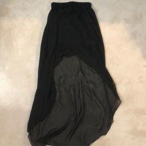 Forever 21 black high low skirt